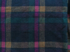 Wool Flannel Yardage,  Jewel-tone Plaid Fabric