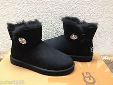 UGG MINI BAILEY BLING SWAROVSKI CRYSTAL BLACK US 8 / EU 39 /  UK 6.5
