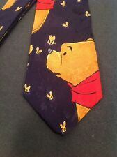 "Vintage Disney Winnie The Pooh Silk Necktie 58"" Bees Honey. By Tie Rack"