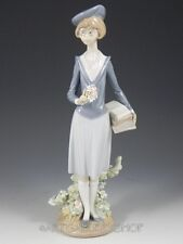 Lladro Figurine AFTER SCHOOL GIRL WITH FLOWERS & BOOKS #5707 Retired Rare Mint