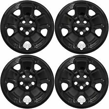 "4 Black 2014-2017 Jeep Cherokee Sport 17"" Wheel Skins Hub Caps Full Rim Covers"