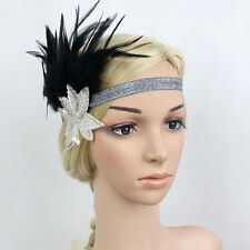 Diamond Vintage Feather Headband 1920'S Hair Band Boho Gatsby Flapper Headband S