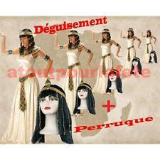 Déguisement + Perruque Cléopatre,Reine d' Egypte,du Nil,Antiquité,Costume,Fête