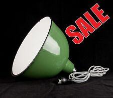 Designer Vintage Industrial Style Dome Shaped Enamel Light Shade PlugIn Pendant