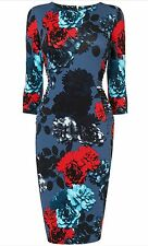 BNWT Phase Eight /8 Multi Coloured Hendon Floral Jersey Dress Size 10