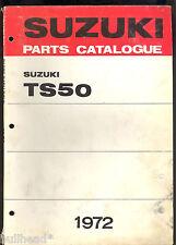 1972 SUZUKI TS50 R / TS50 J MOTORCYCLE PARTS MANUAL / FACTORY ORIGINAL