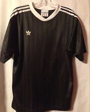 Vintage adidas Trefoil Firebird 1990's Black And White Soccer Jersey, Large