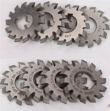 55mm Diameter HSS 8H Set 8 Pcs Dp16 PA14-1/2 Bore22 No1-8 Involute Gear Cutters
