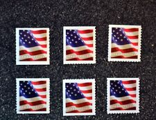 2017USA Flag Set of 6 Different Forever Singles (APU/BCA) (Coil/Booklet)  Mint