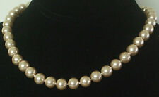 10MM Light Yellow South Sea Shell Pearl Necklace NEW (in a silk gift bag) B03