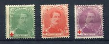 s4616) BELGIUM 1914 MH* Red Cross 3v