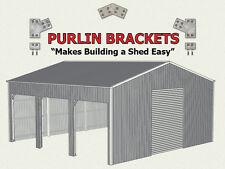 Open Farm Shed 8inch C Section Purlin Bracket Set-Garage-Farm-Steel Plate