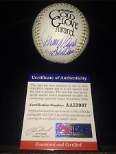 Johnny Bench Signed Gold Glove Major League Baseball HOF Reds PROOF PSA CERT