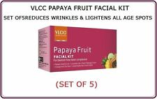 1 PACK VLCC PAPAYA FRUIT FACIAL KIT REDUCES WRINKLES & LIGHTENS ALL AGE SPOTS