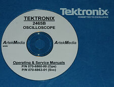 TEKTRONIX  2465B  Operating & Service Manuals (2)