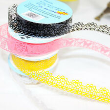 Roll of Hollow Lace Sticky Paper Adhesive washi Tape Sticker Trim Decorati DIY A