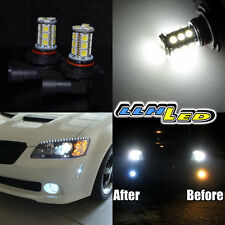 2 x H10 9140 9145 SMD 18 LED HIGH OUTPUT LAMP BULB WHITE DAY TIME FOG LAMP