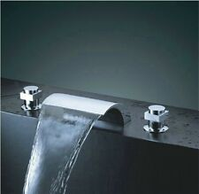 Bathroom Tap Sink Bath Tub Waterfall Faucet Chrome 8816