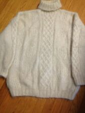 TRISTAN &  ISEUT Mohair Sweater  Heavy Knit Off White Large Unused
