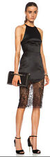NWT! $558 LOVER THE LABEL LOTUS LACE HEM PENCIL SKIRT BLACK AU6/US2