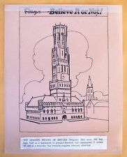 RIPLEY'S BION - LEANING BELFREY - P. 127 - COLORING BOOK INTERIOR ART - 1950's