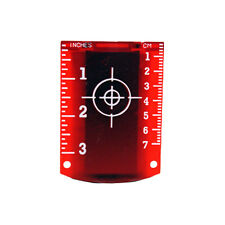 Linestorm Magnetic Red Laser Target For Use With Laser Levels | Cross Line Laser