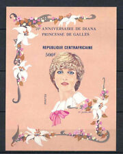 Cen. African Rep. 1982 SG#MS842, 500f 21st Birthday Diana MNH Imperf M/S #A66491