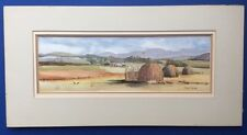 Vintage Watercolour Painting of Primitive Adobe Type Animal Huts by Jane Taylor