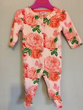 Baby Girls Designer Ted Baker Floral Orange Rose Sleepsuit 0-3m��
