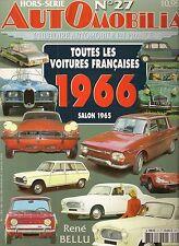 AUTOMOBILIA HS 27 TOUTES LES VOITURES FRANCAISES 1966 salon 1965