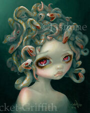 Jasmine Becket-Griffith art print goth snakes greek mythology SIGNED Pale Medusa