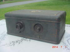 Antique Vintage 1927 Atwater Kent 37 Vacuum Tube Breadbox Radio Art Deco