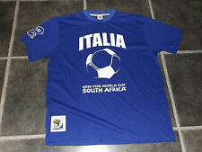 BNWOT MENS L BLUE ITALIA 2010 FIFA WORLD CUP SOUTH AFRICA FOOTBALL T SHIRT