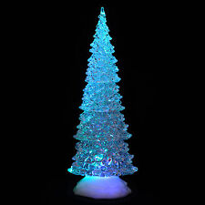 Battery Operated Colour Changing LED Acrylic Tall Tree Christmas Xmas Decoration