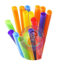 """4000 pc 9"""" Extra Wide Fat Drinking Straws Solid Color Boba Bubble Tea 100 Packs"""