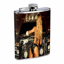Texas Pin Up Girls D 4 Flask 8oz Stainless Steel Hip Drinking Whiskey