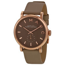 Marc by Marc Jacobs Baker Gravel Gray Leather Ladies Watch MBM1266