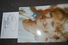 PETULA CLARK SIGNED WHITE CARD  PLUS 12X8 PHOTO