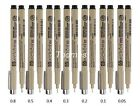 7pcs of Sakura Pigma Micron Fine Line Pen 005 01 02 03 04 05 08 Art Supplies
