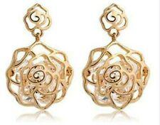 Crystal Zircon Rose Flower Earrings