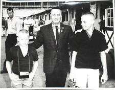 Original 1960s Oversize Photo of Astronaut, Virgil GUS Grissom & Sons