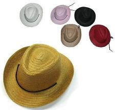 12 KIDS ASST COLOR STRAW COWBOY COWGIRL HAT child headwear children hats cap NEW