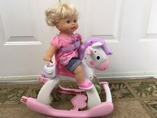 Fisher Price Little Mommy & Me Baby Doll with Pony Rocking Horse Stroller