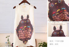 lovely Totoro Womens Chiffon Printed Vest Tank Top Sleeveless T-Shirt Blouse
