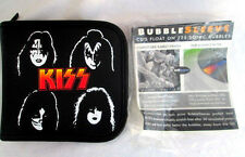 KISS CD..HOLDER..BLACK..SIUMULATAED LEATHER..w 12 BUBBLE SLEEVES..NEW
