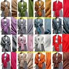 Twenty Colors Pashmina Paisley Floral Silk Wool Scarf Wrap Shawl Soft Classic