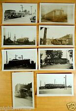 8 Photographs TOLEDO OHIO Railroads T. Indiana T.Western Community Traction Erie