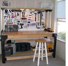 Workbench Kit DIY Work Bench Wood Table Garage Shop Shelving Tools Storage