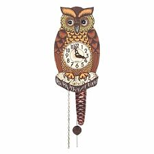 Alexander Taron 861-1 861/1 Wall Owl with Moving Eyes Large Clock