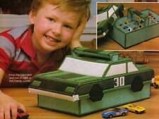 TOY CAR TOTE HOLDER PLASTIC CANVAS PATTERN INSTRUCTIONS